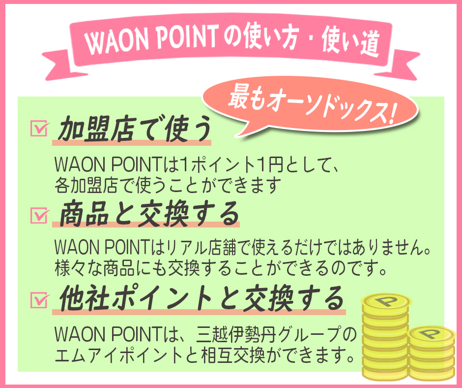 WAON POINTの使い方・使い道