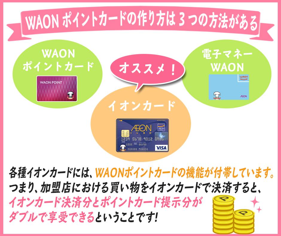 WAONポイントカードを作る方法