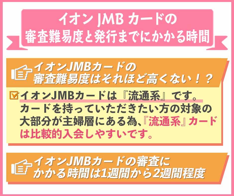 イオンJMBカードの審査難易度と発行までにかかる時間