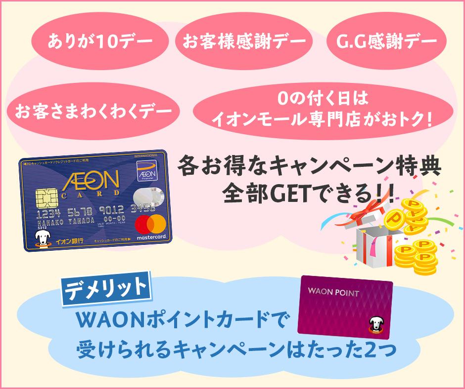 イオン開催の特別なキャンペーン日にイオンカードセレクトでお得なショッピングができる