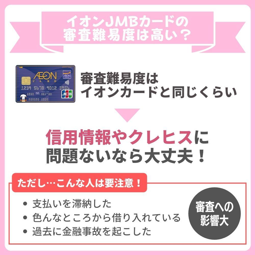 イオンJMBカードの申し込み条件はイオンカードと同じ