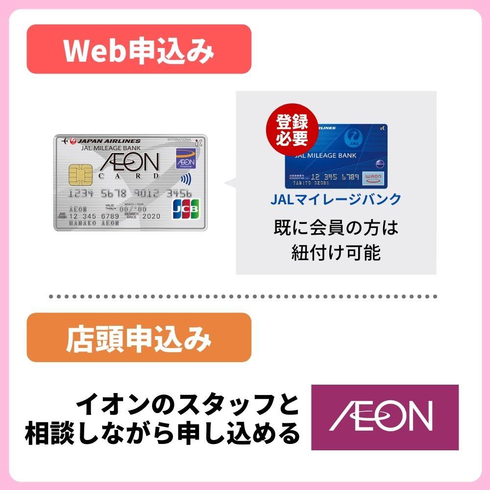 イオンJMBカードの申し込み方法