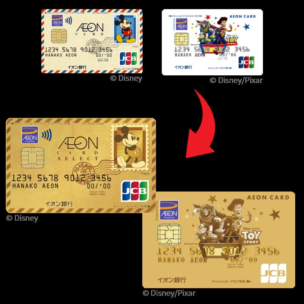 限定デザインカードがゴールドカードにランクアップ