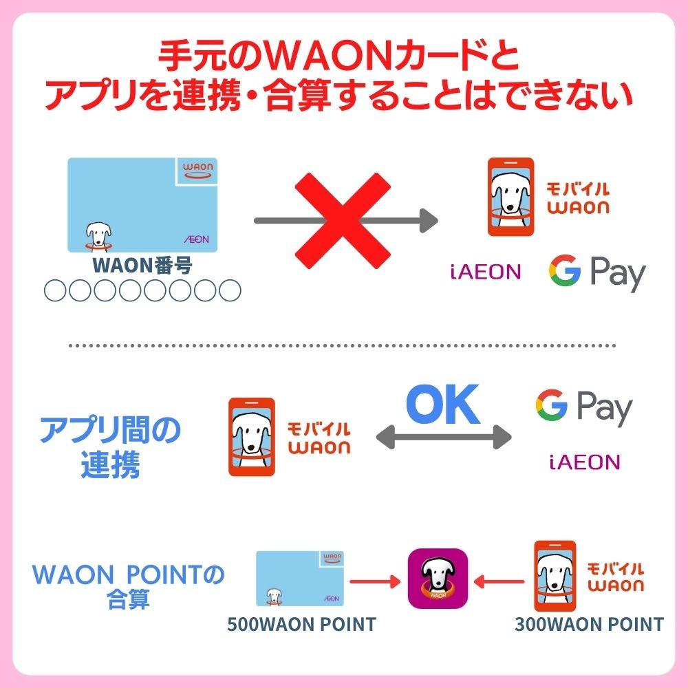 【要注意】カードとスマホ間WAON残高を合算することはできない